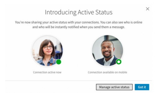 LinkedIn Adds 'Active Status' to Alert Your Connections When You're Online